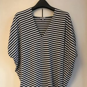 Morgane Le Fay navy/white stripe caftan dress